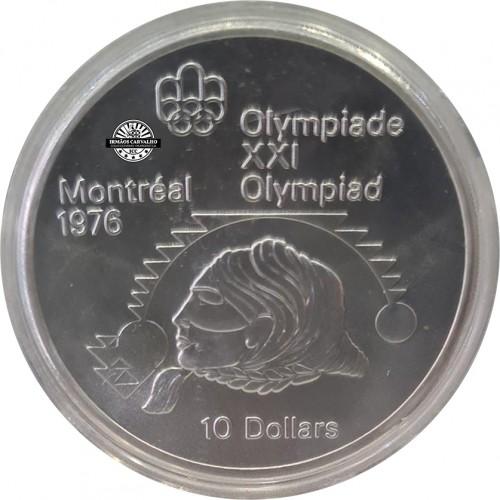 Canada 10 Dollars 1975 Shot Put