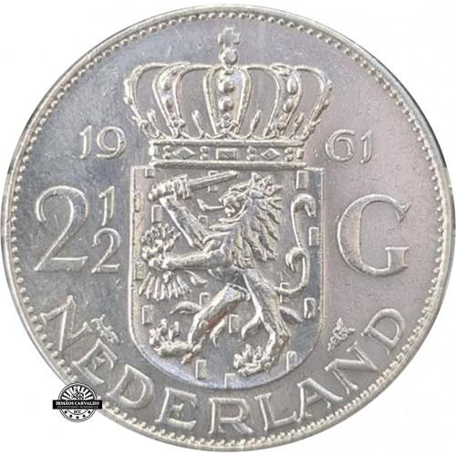 Netherlands 2,50 Gulden 1961