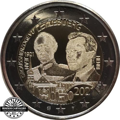 Luxembourg 2 x 2€ 2021 100 Years Birth Grand Duke John