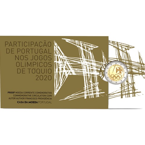 Portugal  2€ 2021 TOKYO OLYMPIC GAMES (Proof)