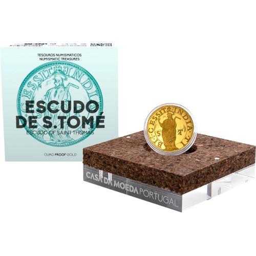 Portugal 2.5€ 2021  ESCUDO OF SAINT THOMAS (GOLD PROOF)