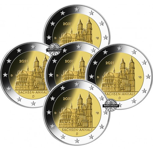 Germany  5X2€ 2021 Magdeburg Cathedral