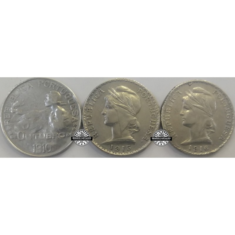 1 escudo silver set