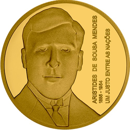 Portugal 2021  5€ Aristides de Sousa Mendes (Gold Proof)