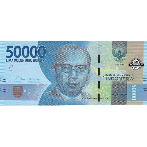 Indonésia 50 000 Rupias 2017