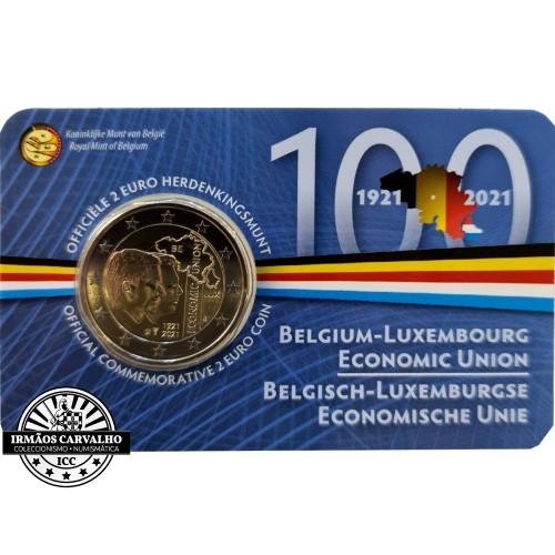 Bélgica 2€ 2021 União Económica Bélgica Luxemburgo