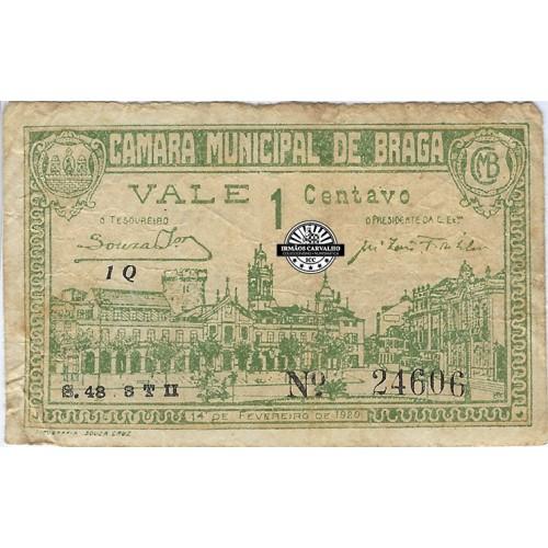 Notgeld Braga 1 Centavo