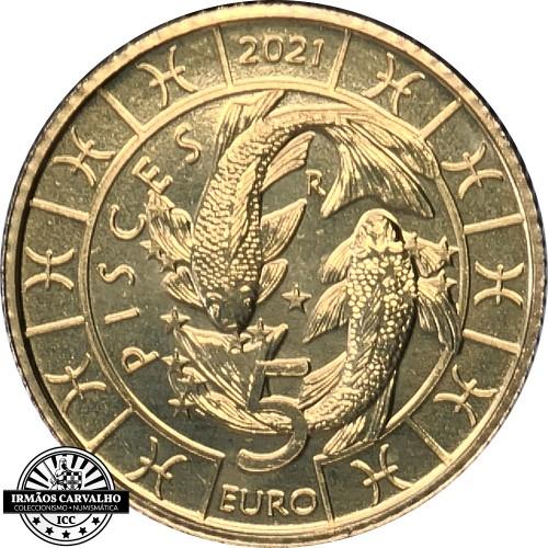 San Marino - 5€ 2021 (Pisces Zodiac)