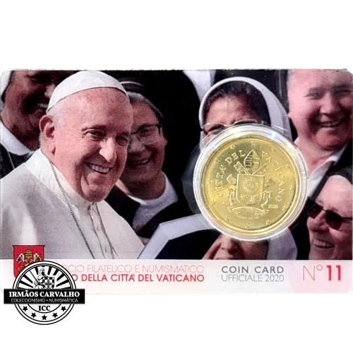 """Vatican - 2020 50 Cents """"Coincard"""""""