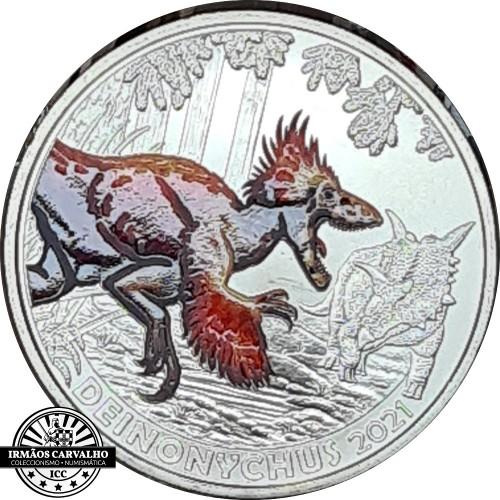 Áustria  3€  2021 Deinonychus