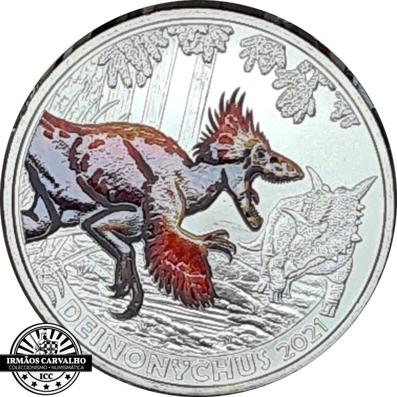 Austria  3€  2021 Therizinossaurus