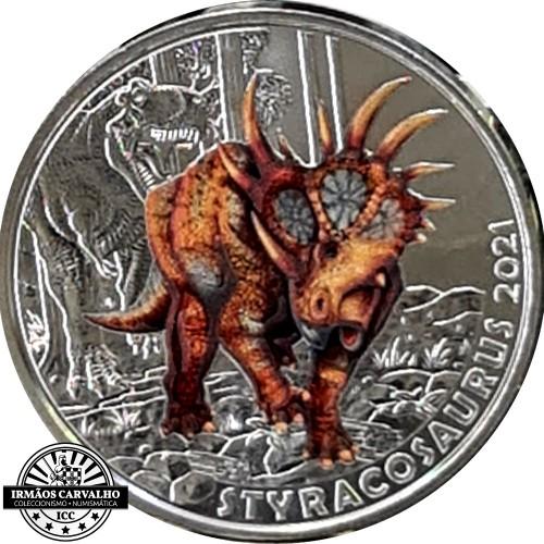 Áustria  3€  2021 Styracosaurus