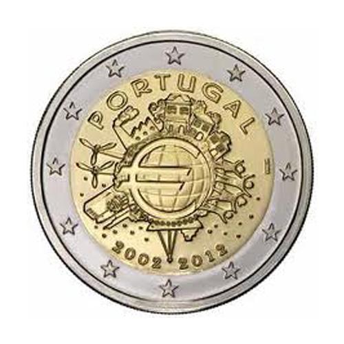 Portugal 2€ 10Th Aniv. of Euro 2012