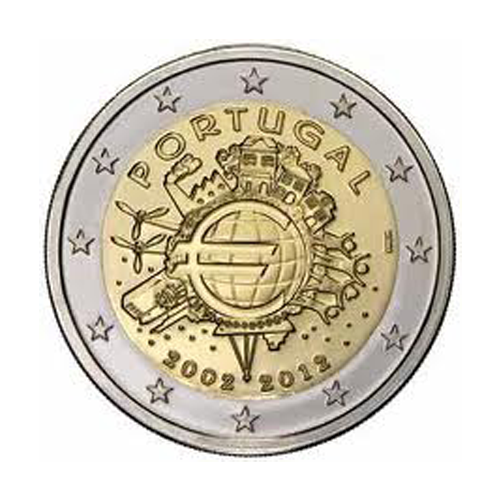 Portugal 2€ 10Th Aniv. of Euro 2012