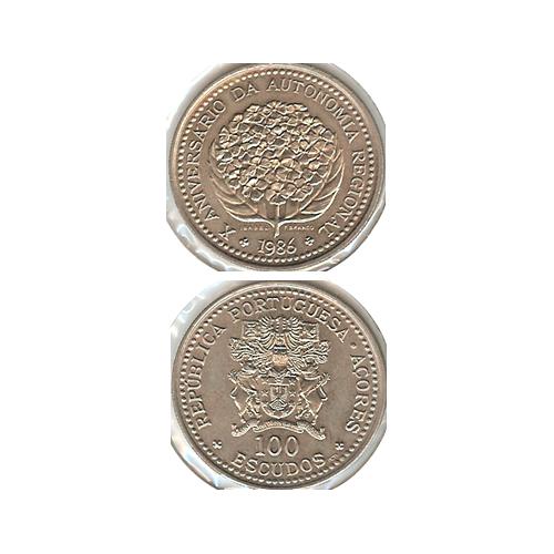 100$00 1986 (10º Aniversário da Autonomia Regional)