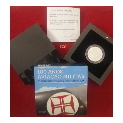 Portugal 2,50€ 2014  Aviação Militar Prata Proof