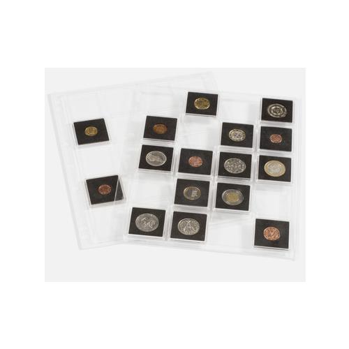 Folhas A4 para 20 moedas em Cápsulas Quadrum