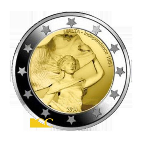 Malta  2€ 2014 50 Anos da Independência