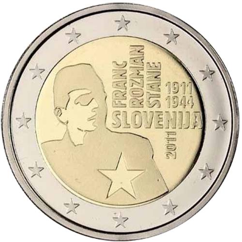 Slovenia 2€ 2011 Franc Rozman