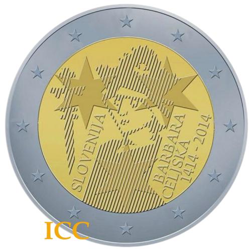 Eslovénia 2€ 2014 Barbara Celjska