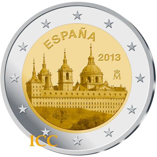 Espanha 2€ 2013 Mosteiro Escorial