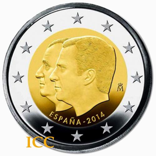 Espanha 2€ 2014 Sucessão