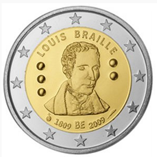 Bélgica 2€ 2009 (Louis Braille's)