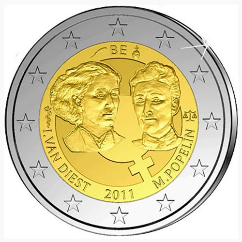 Bélgica 2€ 2011 Dia Internacional da Mulher