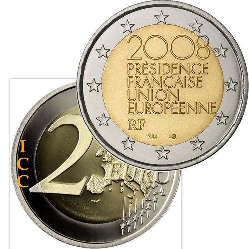 França 2€ 2008 Presidência da U. E.