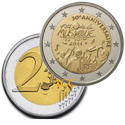 França 2€ 2011 Dia da Música