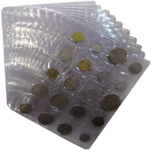 Coin Sheets A5 (20 pockets)