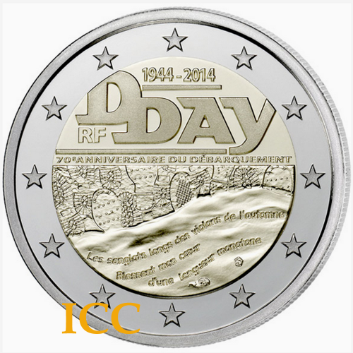 França 2€ 2014 Dia D