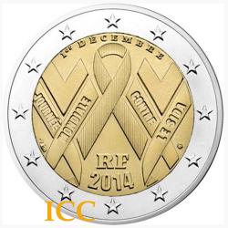 França 2€ 2014 Sida