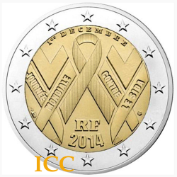 France 2€ 2014 Aids Day
