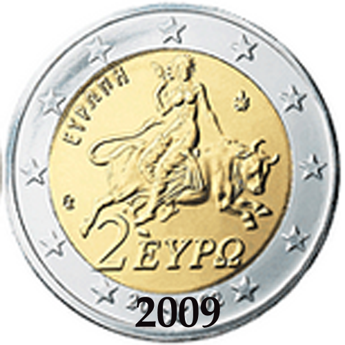 Grécia 2,00€ 2009
