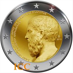Grécia 2€ 2013 Platão
