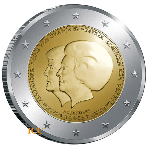 Netherlands  2€ 2013 Double Portrait