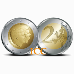 Holanda  2€ 2014 Retrato Duplo