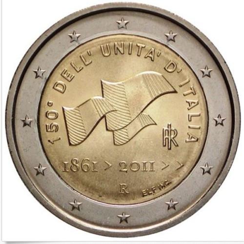 Itália 2€ 2011 Unificação