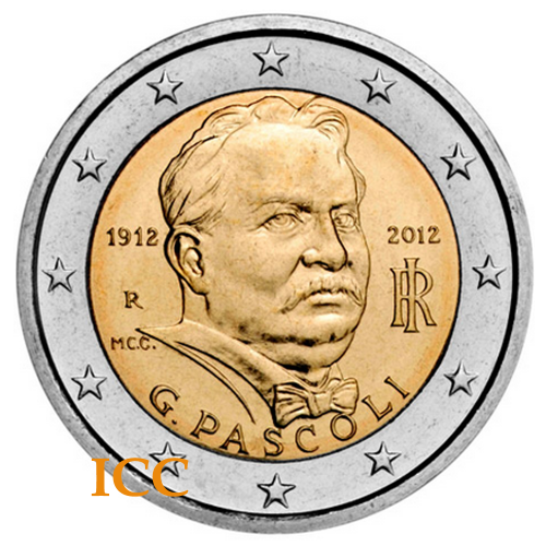 Italy 2€ 2012 Pascoli