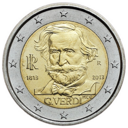 Italy  2€ 2013Giuseppe Verdi