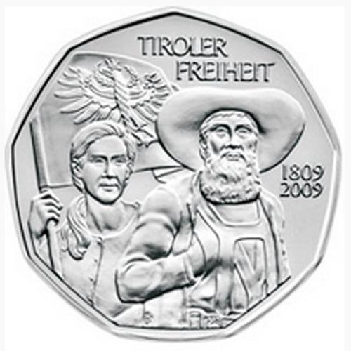 Austria 5€ 2009 Tyrolean