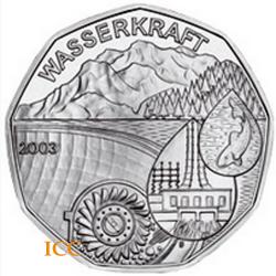 Áustria 5€ 2003 Barragem