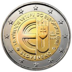 Eslováquia 2,00€ 2014 (10º Aniv. Adesão)