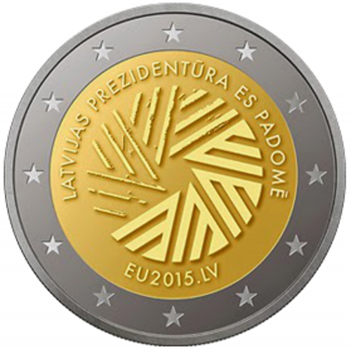 Latvia 2€ 2015 Presidency