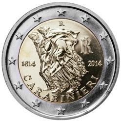 Itália 2€ 2014 Carabinieri