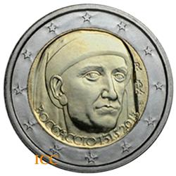 Italy 2€ 2013 Giovanni Boccaccio