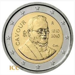 Itália 2€ 2010 Conde de Cavour