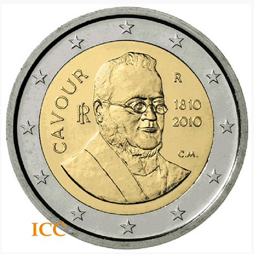 Italy 2€ 2010 Count Cavour