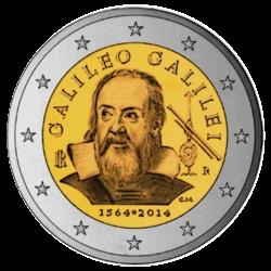 Itália 2€ 2014 Galileu Galilei